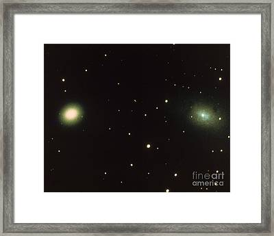 Satellites Of Andromeda Galaxy Framed Print by Science Source