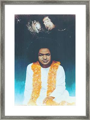 Sathya Sai Baba Divine Framed Print by Anne Provost