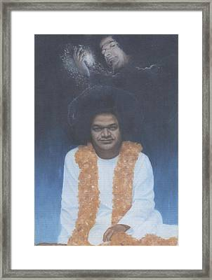Sathya Sai Baba Divine II Framed Print by Anne Provost