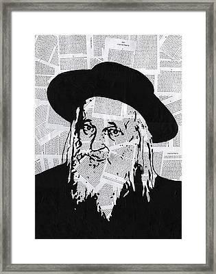 Satmar Rebbe Framed Print