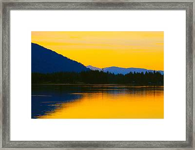 Saturated Sunset Framed Print by Karon Melillo DeVega