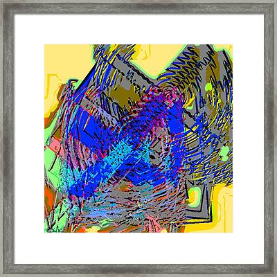 Saturday Abstract Composition 2 Framed Print by Rod Saavedra-Ferrere