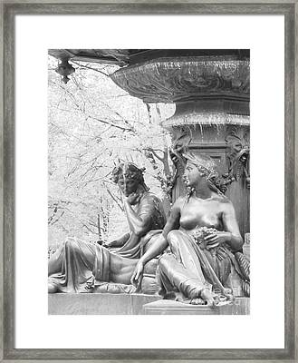 Framed Print featuring the photograph Saturday Afternoon In The Park I by Ann Johndro-Collins