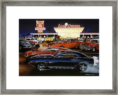 Saturday Night 1970 Framed Print by Bruce Kaiser