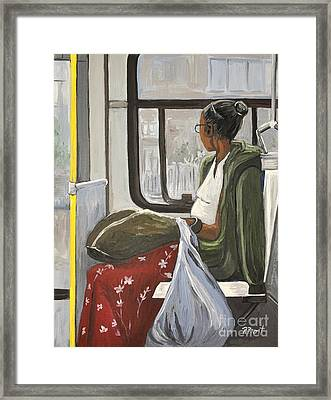 Saturday Rider On The 107 Framed Print