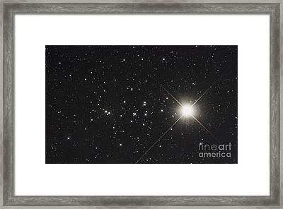 Saturn In The Beehive Star Cluster Framed Print