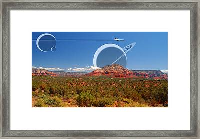 Saturn Rising Framed Print by Larry Mulvehill