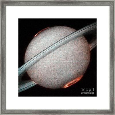 Saturns Auroras Framed Print by Nasa