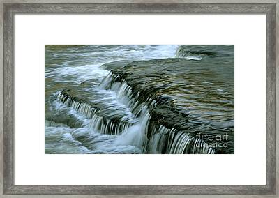 Sauble Falls Closeup Framed Print by Chris Hill