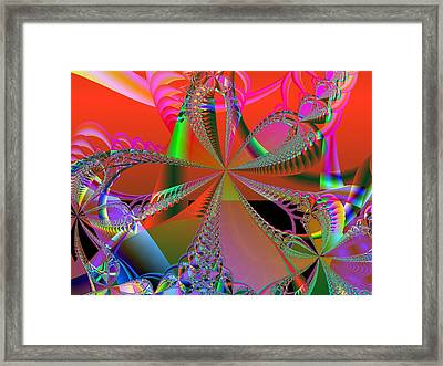 Framed Print featuring the digital art Saucy Bows by Ann Peck