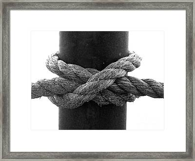 Saugerties Lighthouse Rope Knot Photograph Framed Print