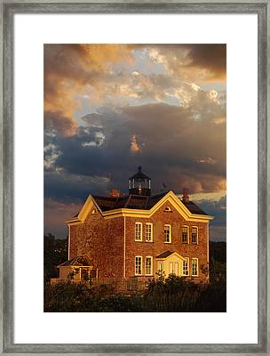 Saugerties Ny Lighthouse Framed Print by Skip Willits