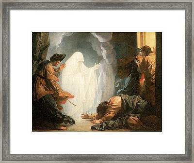 Saul And The Witch Of Endor Framed Print by Benjamin West