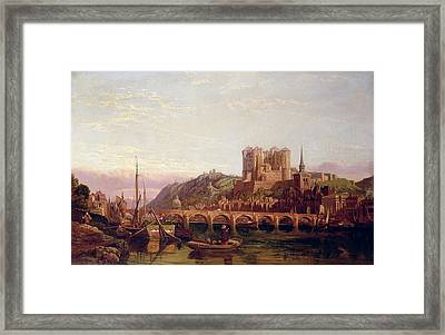Saumur -  By The Loire Valley  Framed Print by George Clarkson Stanfield