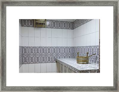 Sauna Bowl Framed Print