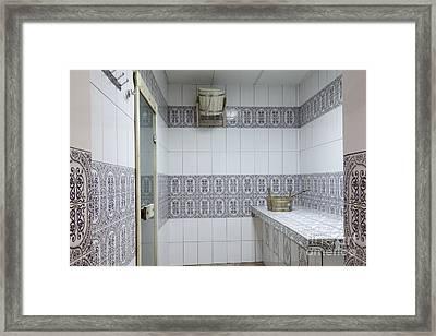 Sauna Entrance Framed Print