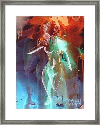 Framed Print featuring the painting Saunter by Julie Lueders