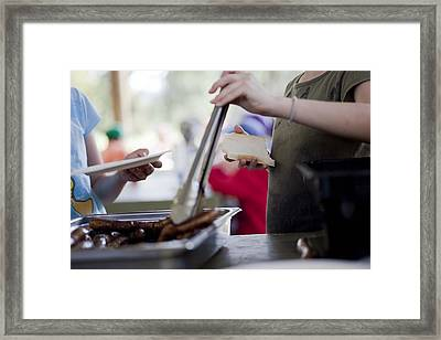 Framed Print featuring the photograph Sausage Sizzle by Carole Hinding