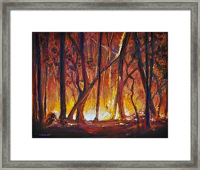 Savage Beauty Framed Print by Li Newton