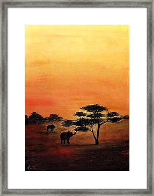 Savana Framed Print