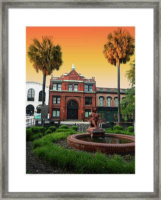 Framed Print featuring the photograph Savannah Cotton Exchange by Paul Mashburn