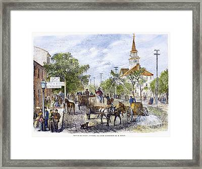 Savannah, Georgia, 1867 Framed Print