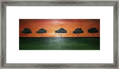 Savannah Sunset Framed Print by Edwin Alverio