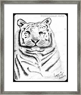 Save Tigers Framed Print by Poornima M