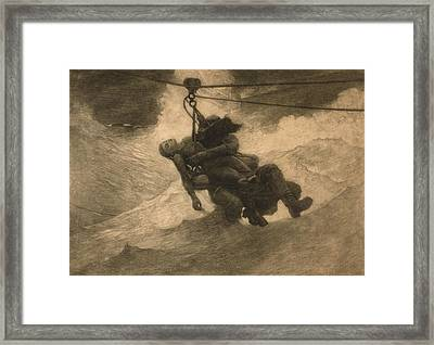 Saved 1888, An Etching By Winslow Homer Framed Print by Everett