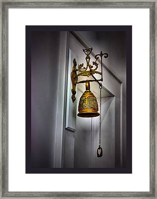 Saved By The Bell Framed Print by Myrna Migala