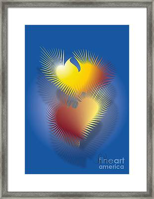 Framed Print featuring the digital art Saved Souls by Leo Symon