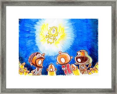 Saviour Has Come To Birth Framed Print by Masahiro Tajima