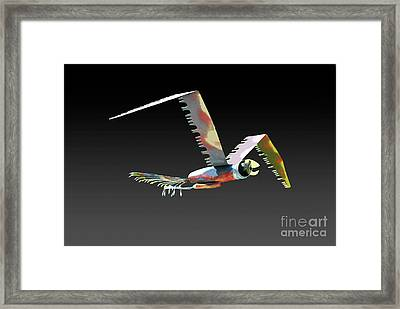 Saw Bird Framed Print