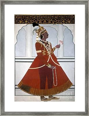 Sawai Pratap Singh Framed Print by Granger