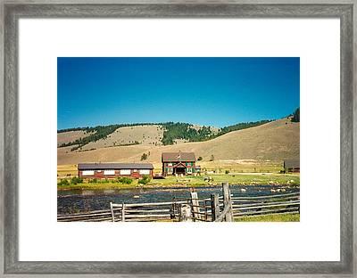Sawtooth Mountains Campsite Framed Print by Douglas Barnett