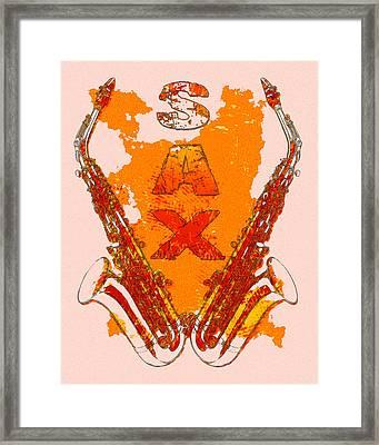 Sax Framed Print by David G Paul