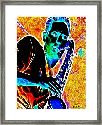 Sax Framed Print by Stephen Younts