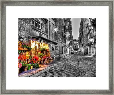 Say It With Flowers - Hdr Framed Print by Colin J Williams Photography