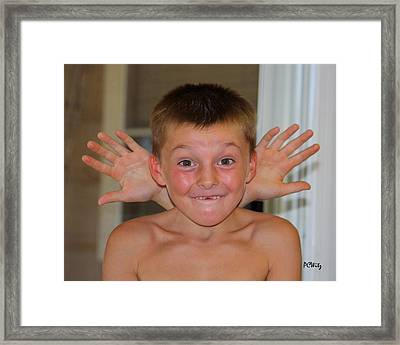 Framed Print featuring the photograph Say What by Patrick Witz