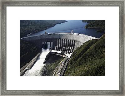 Sayano-shushenskaya Hydroelectric Dam Framed Print by Ria Novosti