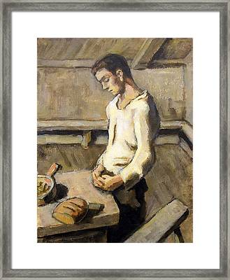 Saying Grace Framed Print by Alfons Niex