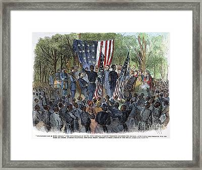 Sc: Emancipation, 1863 Framed Print by Granger