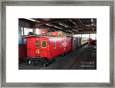 Scale Caboose - Traintown Sonoma California - 5d19240 Framed Print by Wingsdomain Art and Photography