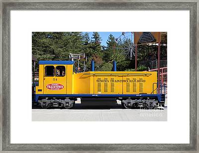 Scale Locomotive - Traintown Sonoma California - 5d19237 Framed Print