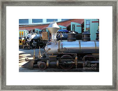 Scale Steam Locomotives - Traintown Sonoma California - 5d19200 Framed Print by Wingsdomain Art and Photography