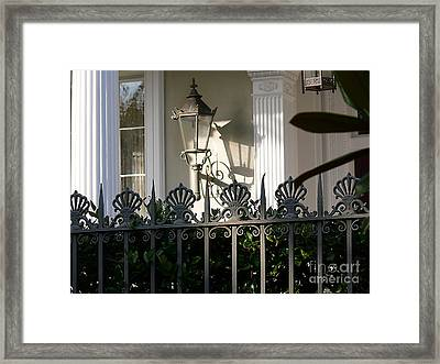 Framed Print featuring the photograph Scallop Fence by Jeanne  Woods