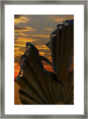 Scallop Sunrise Framed Print by Darren Burroughs