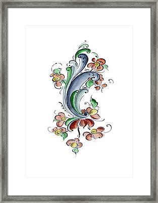 Scandinavian Flower I Framed Print by Judy Dodds