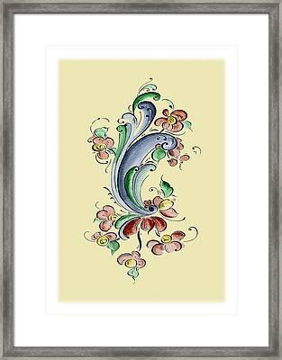 Scandinavian Flower II Framed Print by Judy Dodds