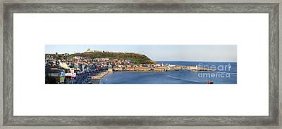 Scarborough Panorama Framed Print by Jane Rix